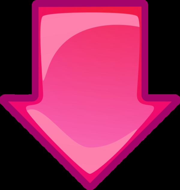 pink down arrow